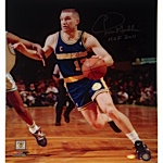 "Chris Mullin Autographed Drive to Basket Left Handed Vertical 16x20 Photo w/ ""HOF 2011"" Insc."